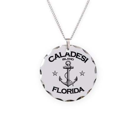 Caladesi Island, Florida Necklace Circle Charm