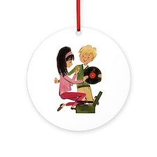 Vinyl Records Love Ornament (Round)