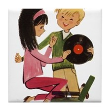 Vinyl Records Love Tile Coaster