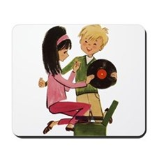 Vinyl Records Love Mousepad