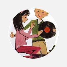 "Vinyl Records Love 3.5"" Button"
