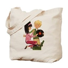 Vinyl Records Love Tote Bag