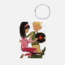 Vinyl Records Love Keychains