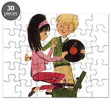 Vinyl Records Love Puzzle
