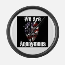 We Are Anonymous USA Large Wall Clock