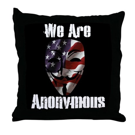 We Are Anonymous USA Throw Pillow