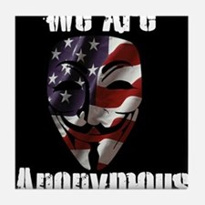We Are Anonymous USA Tile Coaster