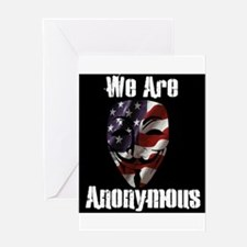 We Are Anonymous USA Greeting Card