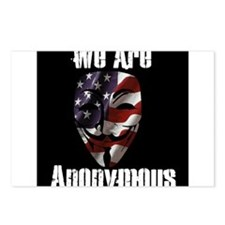 We Are Anonymous USA Postcards (Package of 8)