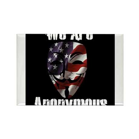 We Are Anonymous USA Rectangle Magnet (10 pack)