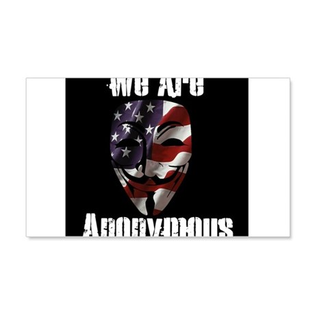We Are Anonymous USA 22x14 Wall Peel