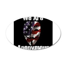 We Are Anonymous USA 22x14 Oval Wall Peel