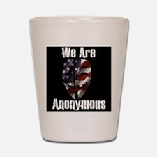 We Are Anonymous USA Shot Glass