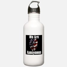 We Are Anonymous USA Water Bottle