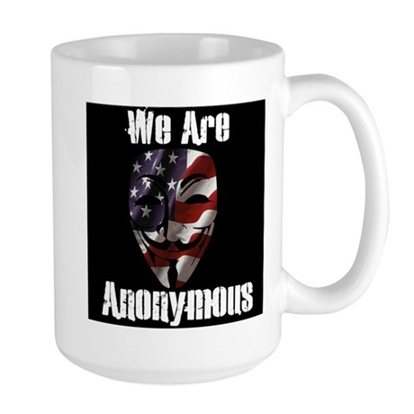 We Are Anonymous USA Large Mug