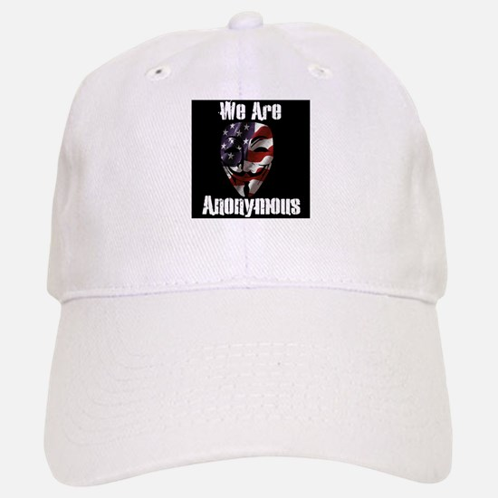 We Are Anonymous USA Baseball Baseball Cap