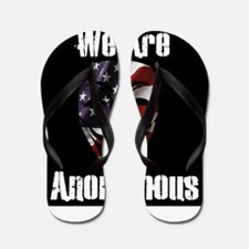 We Are Anonymous USA Flip Flops