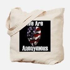 We Are Anonymous USA Tote Bag