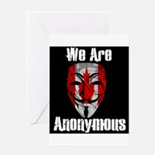 We Are Anonymous Canada Greeting Card