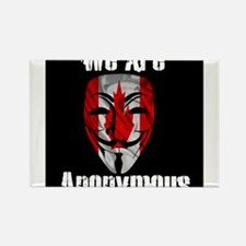 We Are Anonymous Canada Rectangle Magnet
