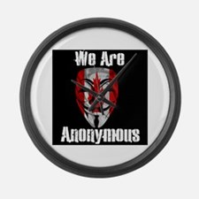 We Are Anonymous Canada Large Wall Clock