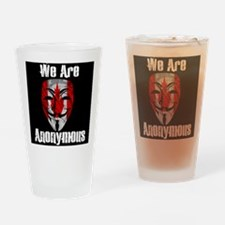 We Are Anonymous Canada Drinking Glass
