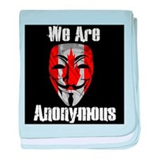 We Are Anonymous Canada baby blanket