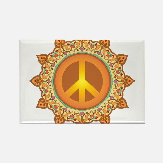 Peace Sign Rectangle Magnet