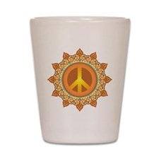 Peace Sign Shot Glass