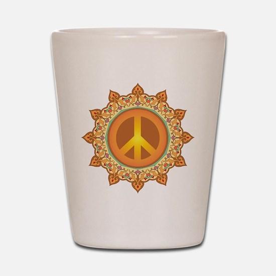 Peace Sign Shot Glass