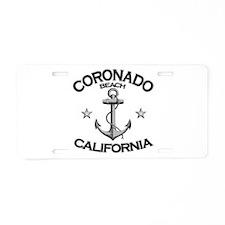 Coronado Beach, California Aluminum License Plate