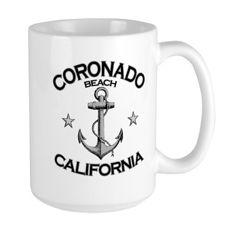 Coronado Beach, California Large Mug