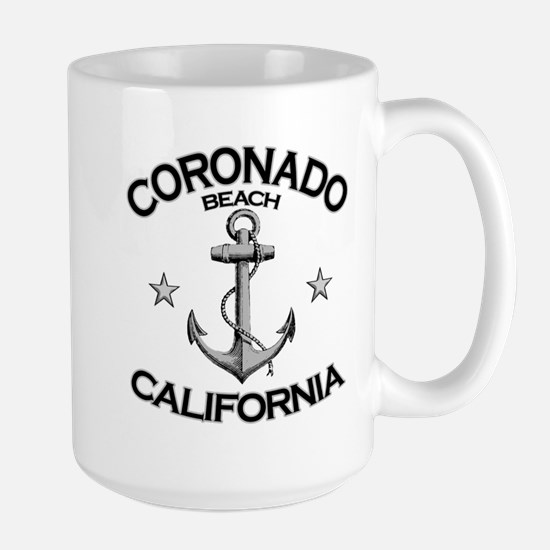 Coronado Beach, California Large Mug
