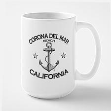 Corona Del Mar Beach, California Large Mug