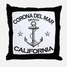 Corona Del Mar Beach, California Throw Pillow