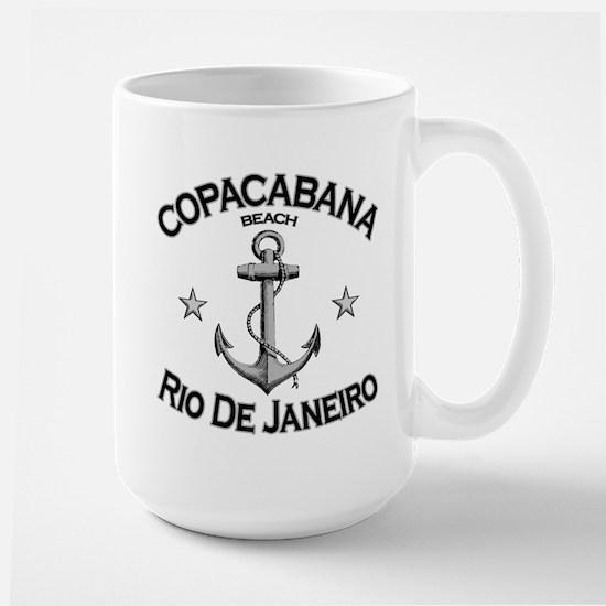 Copacabana, Rio De Janeiro Large Mug