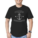 Cooper island Fitted Dark T-Shirts