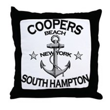Coopers Beach, South Hampton, NY Throw Pillow