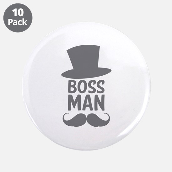 "Boss Man 3.5"" Button (10 pack)"