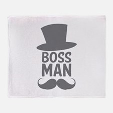 Boss Man Throw Blanket