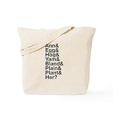 Ann Veal Nicknames Tote Bag