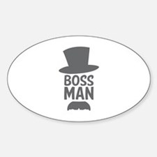 Boss Man Sticker (Oval)