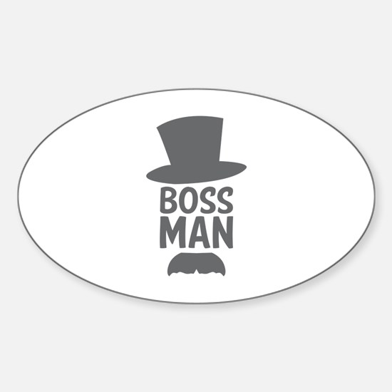 Boss Man Sticker (Oval)