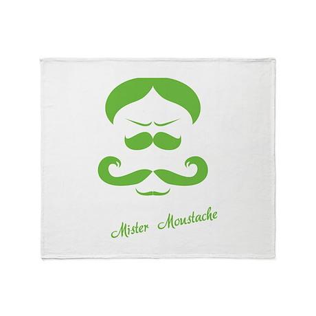 Mister Moustache Throw Blanket