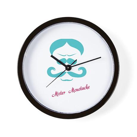 Mister Moustache Wall Clock