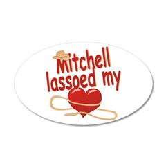 Mitchell Lassoed My Heart 38.5 x 24.5 Oval Wall Pe