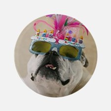 """Happy Birthday 3.5"""" Button"""