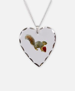 Squirrel with Candy Box Necklace