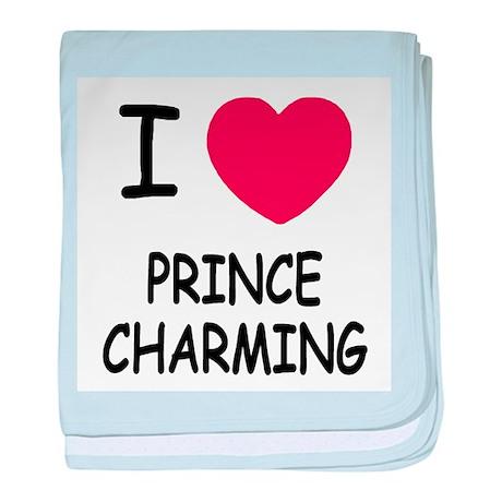I heart prince charming baby blanket