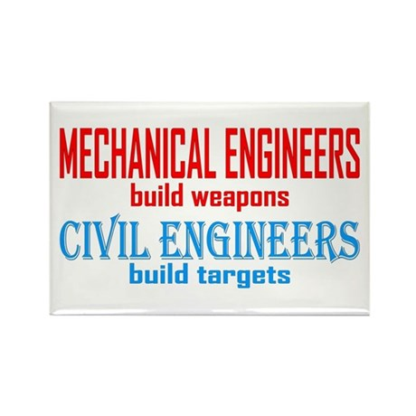 Mechanical vs. Civil Rectangle Magnet (100 pack)
